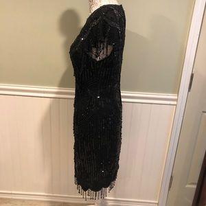 Laurence Kazar Dresses - Vintage Laurence Kazar Beaded Silk Cocktail Dress